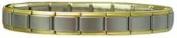Premium Gold Edge Frost matte Centre Italian Charm Bracelet