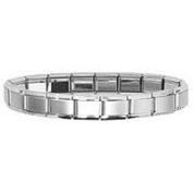 Premium Frost Matte Centre Shiny Edge Italian Charm Bracelet