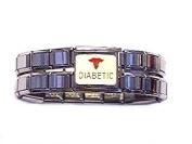 Diabetic Enamel Mega Link Italian Charm Bracelet