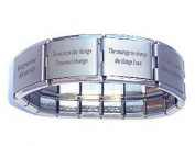Serenity Prayer Mega Italian Charm Bracelet