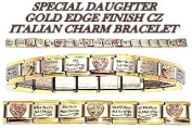 Special Daughter Gold Edge Italian Charm Bracelet