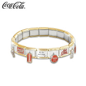 COCA-COLA Ultimate Italian Charm Bracelet by The Bradford Exchange
