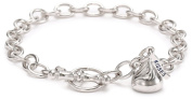 Hershey Jewellery Sterling Silver Small 3D Shaped with One Charm Bracelet