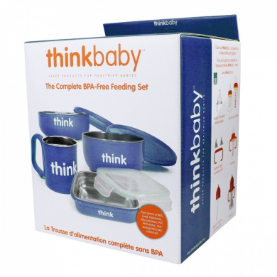 Thinkbaby The Complete BPA Free Feeding Set - Blue