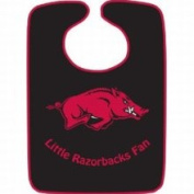 Caseys Distributing 9960603824 Arkansas Razorbacks Two-Toned Snap Baby Bib