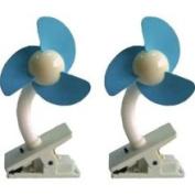 Dreambaby Stroller Fan 2 Pack White Blue L230KIT1