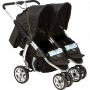 Valco Baby Latitude Ex Double Stroller - Silk Black
