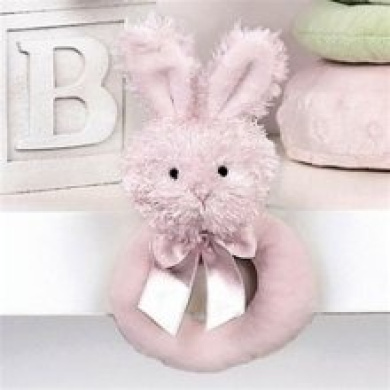 Pink Lil Bunny Rattle by Bearington - 197100