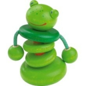 Haba Croo-ak Frog Wooden Rattle Clutching Toy