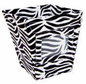 Trend Lab Fabric Storage Bin, Zebra Print, Small