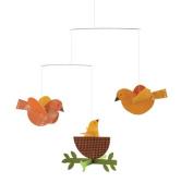 Petit Collage Nesting Birds Paper Mobile