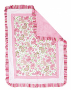 Trend Lab Paisley Park 3Pc Crib Bedding Set - Pink/Sage