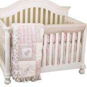 Cotton Tale Designs Front Crib Rail Cover Up Set, Heaven Sent Girl