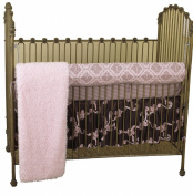 Cotton Tale Designs Cupcake Front Crib Rail Cover Up Set