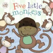 Little Learners Five Little Monkeys Finger Puppet Book [Board book]