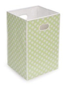Best Quality Folding Hamper/Storage Bin - Sage with White Polka Dots By Badger