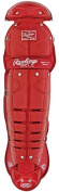 Rawlings Girls Fastpitch Youth 14.5 Leg Guards S - SCARLET 14.5 YOUTH AGES 9-12