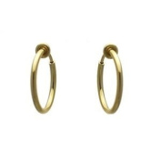 Cerceau 17mm Gold Plated Hoop Clip On Earrings