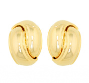 JanKuo Jewellery Gold Tone Shinning Polished Knot Shape Clip On Earrings