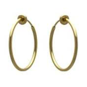 Cerceau 25mm Gold Plated Hoop Clip On Earrings
