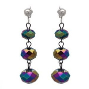 Veciputous Silver Multi Coloured Clip On Earrings
