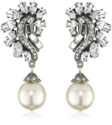 Ben-Amun Jewellery Crystal and Pearl Drop Earrings
