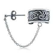 Bling Jewellery Celtic Swirls Sterling Silver Ear Cuff One Piece