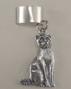 Sterling Silver Sitting Cat Ear Cuff