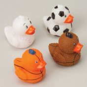 Mini Rubber Ducks In Sports Themes, Mini Games, Toys, Prizes And Novelties
