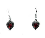 Fallen Dark Angel Wings & Heart Gothic Earrings