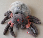 TY Beanie Babies Hairy the Spider Stuffed Animal Plush Toy - 15cm long - Dark/Light Brown body