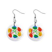 Coloured Easter Eggs Dangle Earrings