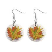 Fall Leaves Dangle Earrings Jewellery 2.5cm Buttons 12320051