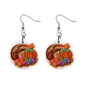 Horn O Plenty Thanksgiving Day Dangle Earrings Jewellery 2.5cm Buttons 12305921
