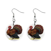 Thanksgiving Turkey Dangle Button Earrings Jewellery 17007266