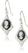 1928 Jewellery Embellish Vintage-Inspired Cameo Drop Earrings