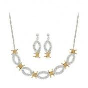 Montana Silversmiths XOXO Crystal Barbed Wire Jewellery Set