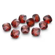 7.75-8.20 Cts of 5 mm AAA Cushion Checker Board Garnet (10 pcs) Loose Gemstones