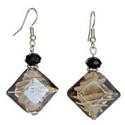 """Lova Jewellery """"Starry Night"""" Hand-Blown Venetian Murano Glass Drop Earrings"""