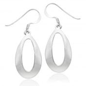 Sterling Silver Tarnish-Free Polished Oval Teardrop Earrings