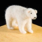 Polar Bear Wool Needle Felting Kit