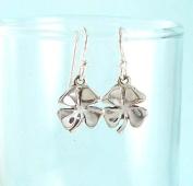 Lucky Four Leaf Clover Sterling Silver Earrings