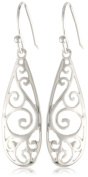 Sterling Silver Long Teardrop Drop Earrings