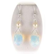 Opalite Briolette Pearl Sterling Silver Earrings
