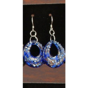 Lapis Designer Circle Earring Jewellery Jewel Fashion Accessory Gemstone