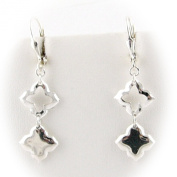 Sterling Silver Quadrofolio Link Dangle Earrings Italy
