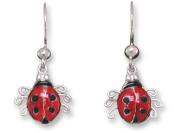 Ladybird Sterling Silver and Enamel Earrings