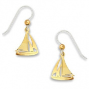 Sailboat Nautical Earrings Gold Plate, Handmade in the USA by Sienna Sky 1125