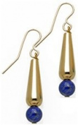 Egyptian Tear Drop Earrings with Lapis
