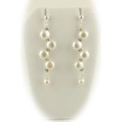 Bridal Cream Freshwater Pearl Sterling Silver Earrings
